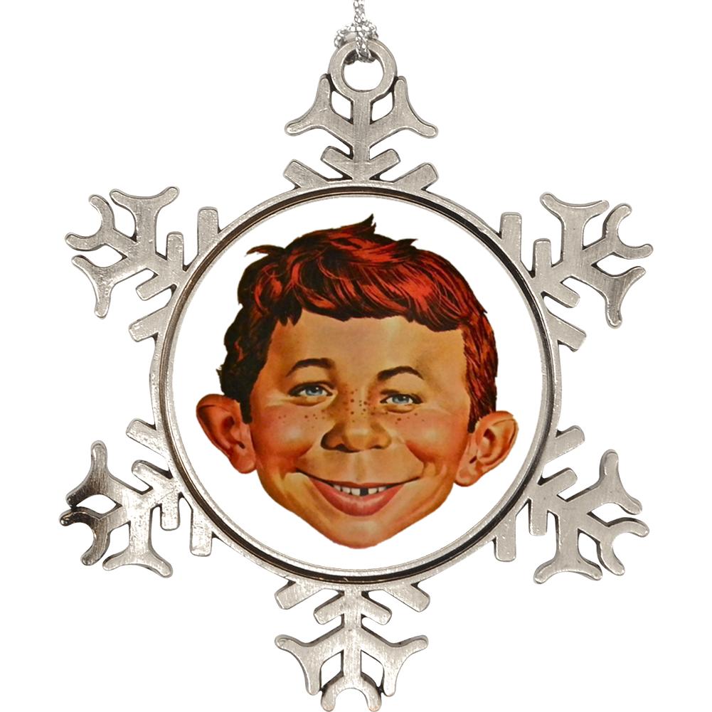 Alfred E Neuman Mad Magazine Mascot Christmas Holiday Ornament