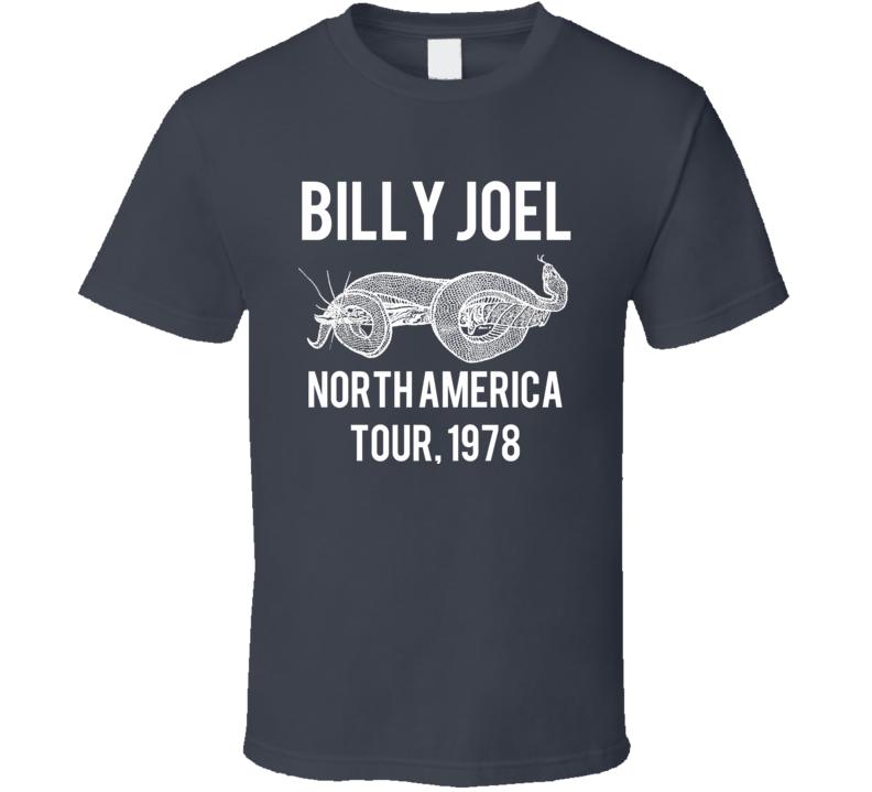 Taylor Swift's Billy Joel North American Tour 1978 Replica T Shirt