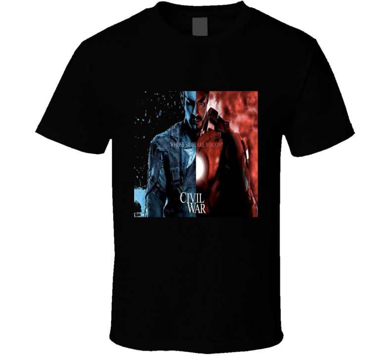 Captain America Civil War Classic Movie T Shirt