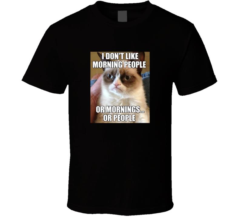 Grumpy Cat Funny Classic Trendy Meme LOL T Shirt