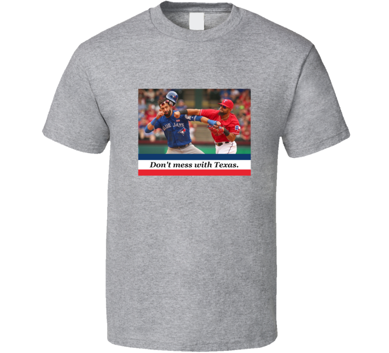 Don't Mess With Texas Rougned Odor Bautista Punch Texas Jose Bautista Punch Baseball Fan T Shirt