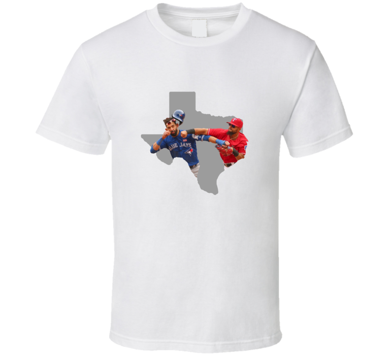 Texas Versus Toronto Baseball Rougned Odor Jose Bautista Punch Texas Baseball Fan T Shirt