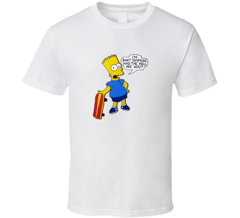 The Simpsons Hi I'm Bart Simpson Funny Classic T Shirt