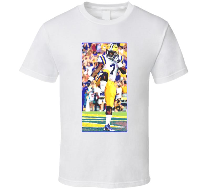 Leonard Fournette Posterized Worn Look LSU Heisman Football Fan T Shirt