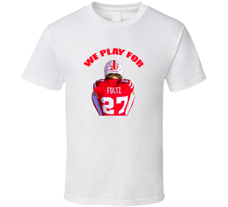 Nebraska Cornhuskers Football Sam Foltz Death Memorial Classic Trendy Team T Shirt