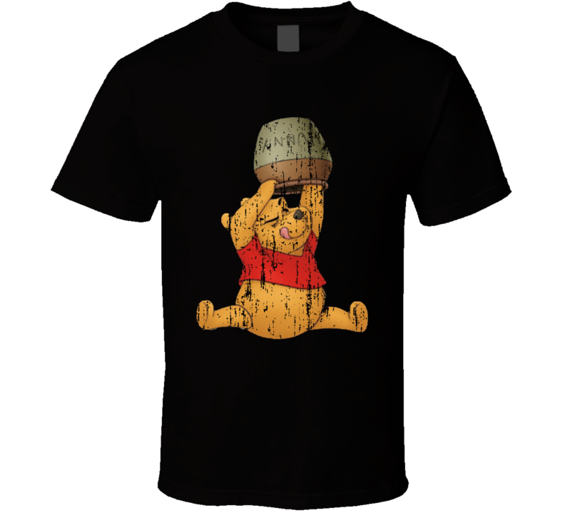 Winnie The Pooh Best Retro Cartoon Character Aged Look Gift T Shirt