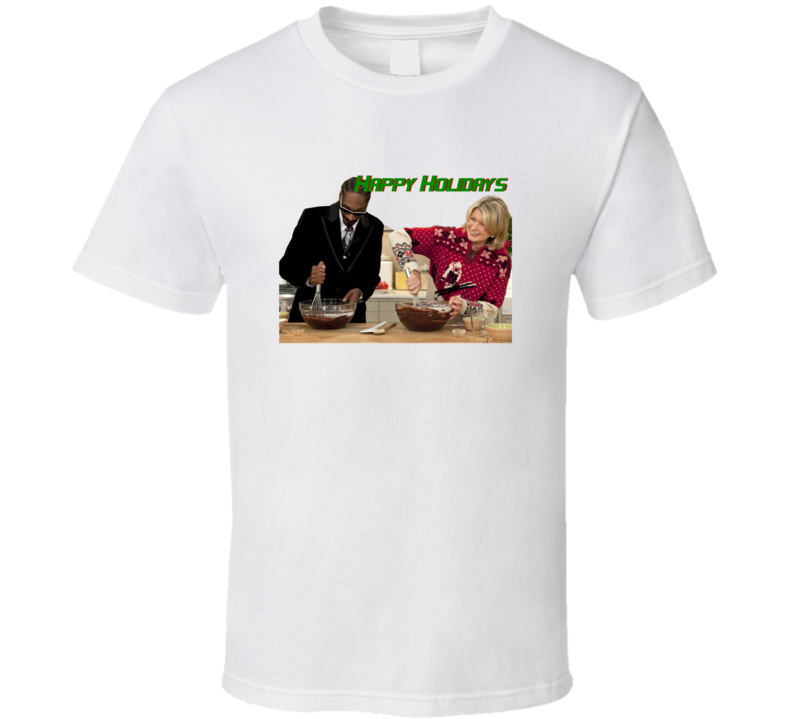 Snoop Dogg and Martha Stewart Cooking Show Happy Holidays Trendy Classic T Shirt