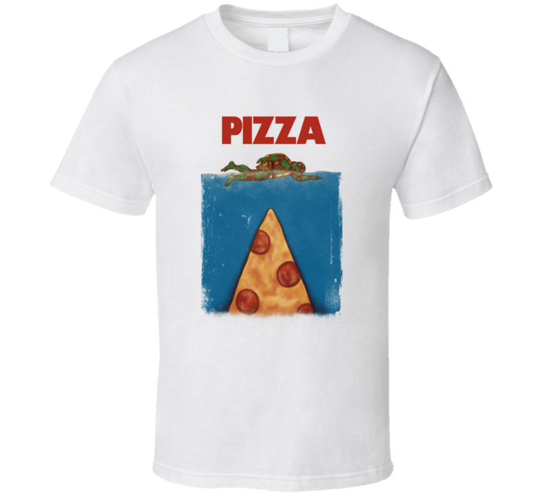 Pizza Teenage Mutant Ninja Turtles Jaws Inspired Funny T Shirt