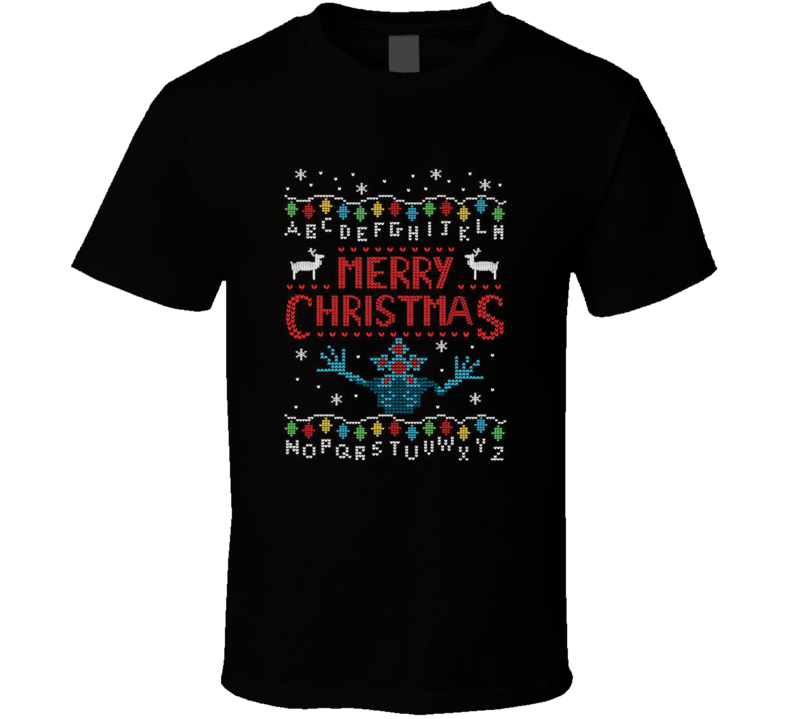Merry Christmas Upside Down Stranger Things TV Show Holiday Eleven T Shirt