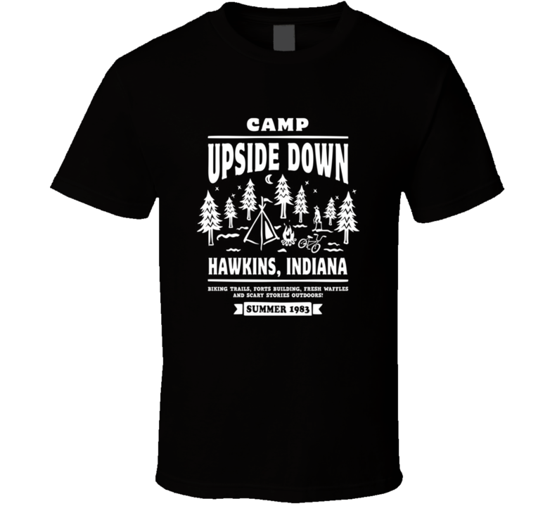 Camp Upside Down Stranger Things TV Show Eleven T Shirt