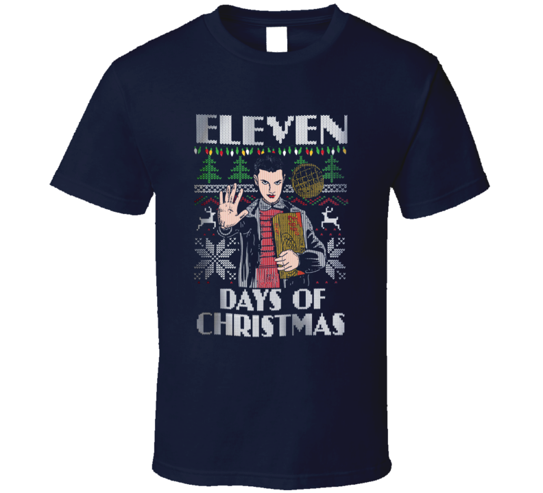 Eleven Days of Christmas Stranger Things Holiday T Shirt