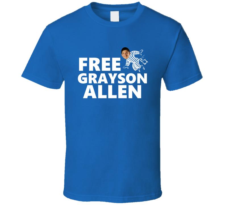 Funny Free Grayson Allen Duke Basketball T Shirt