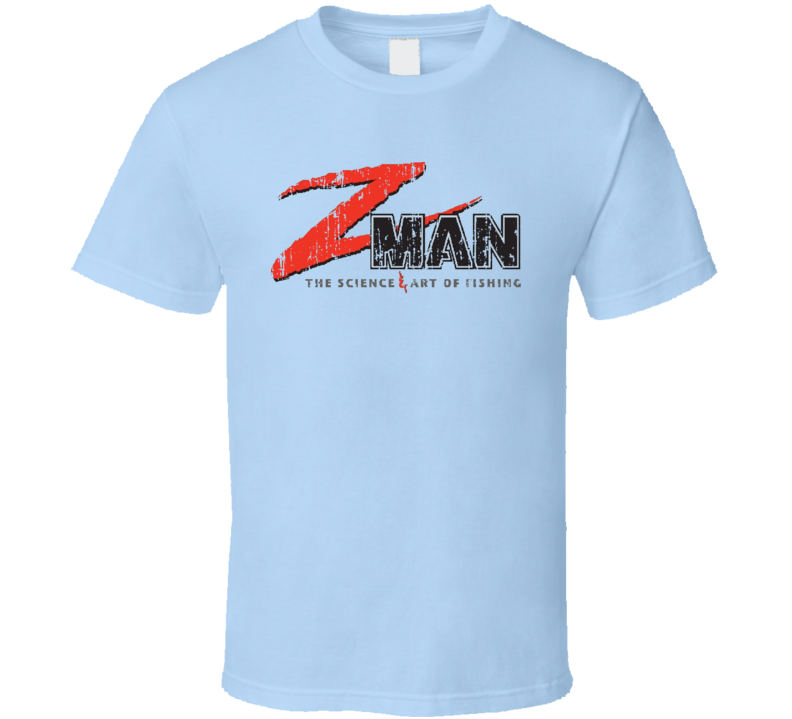 Z-Man Lures Fishing Lover Products Cool Gift Worn Look T Shirt