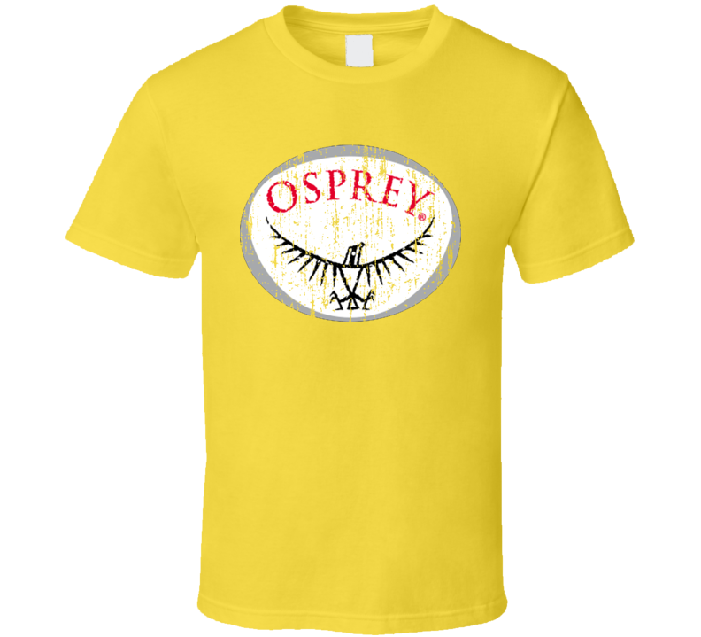 Osprey Camping Outdoors Lover Cool Trendy Worn Look T Shirt