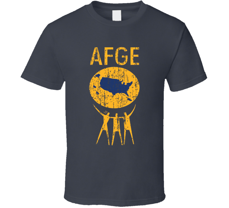 AFGE US Trade Unions Trendy Worn Look T Shirt