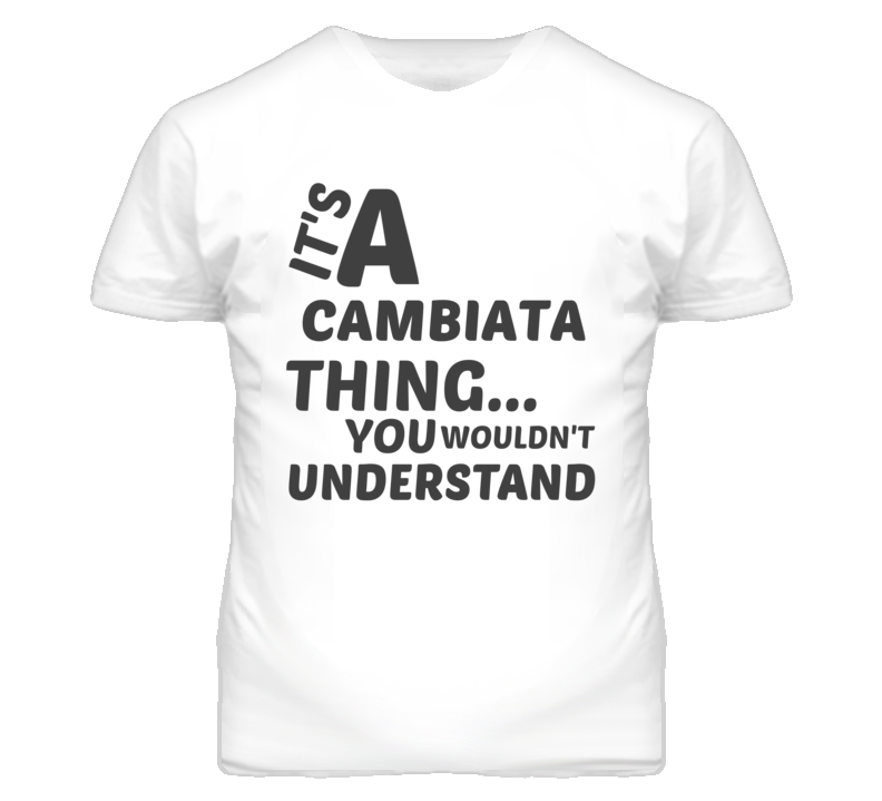 Cambiata Thing You Wouldnt Understand Music T Shirt