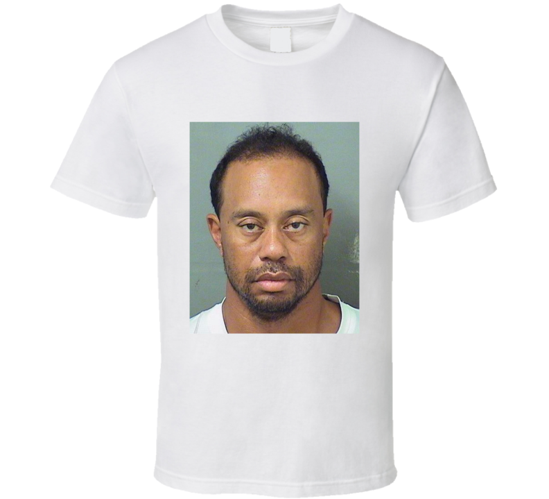Tiger Woods DUI Fan Mugshot T Shirt