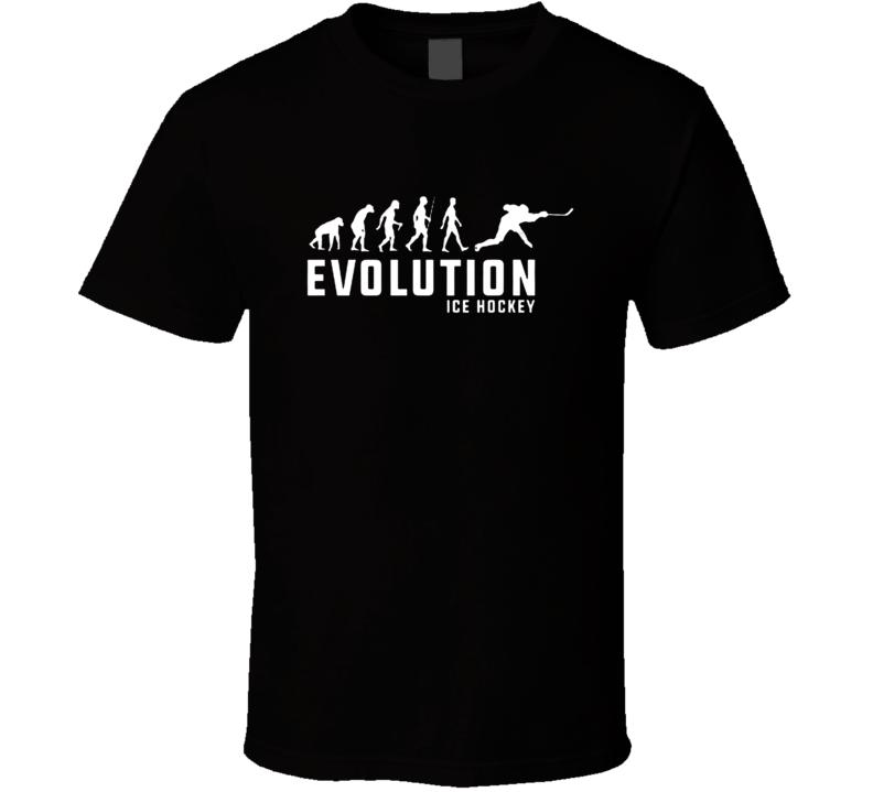 Hockey Human Evolution Cool Hockey Fathers Day Grandpa Gift T Shirt