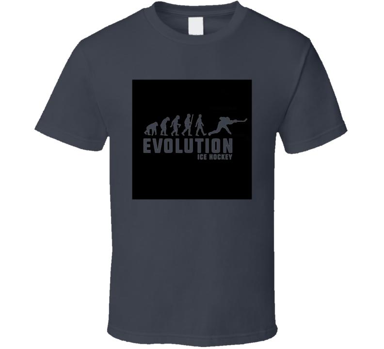 Hockey Evolution Funny Hockey Fathers Day Grandpa Gift T Shirt