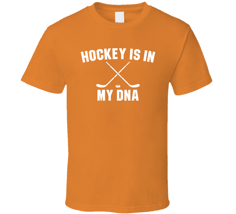 Hockey Is In My DNA Funny Hockey Fathers Day Grandpa Gift T Shirt