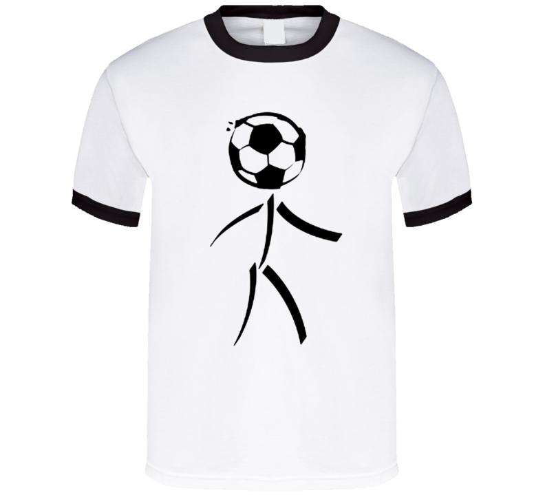 Football stickman funny soccer T shirt