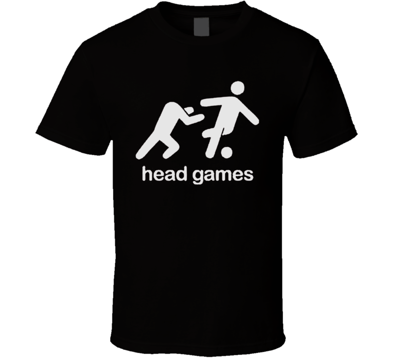 Head games funny soccer T shirt