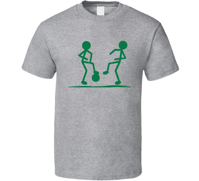 Stick men funny soccer T shirt