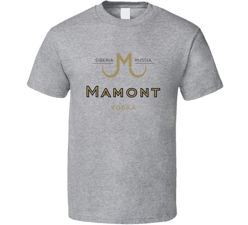 Best Mamont Russia Vodka Logo Gift Fan T Shirt