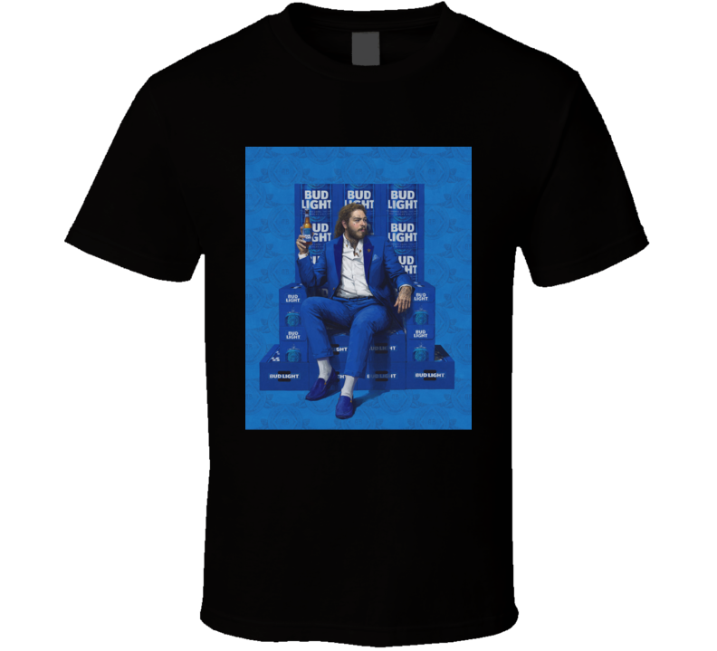 Post Malone For Bud Light Graphic T Shirt Best Fan Gift