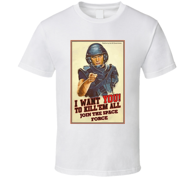 Donald Trump Space Force Parody T Shirt