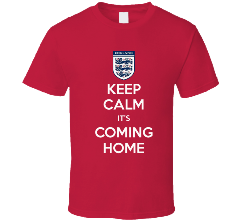 England Football World Cup 2018 Coming Home Fan Tshirt