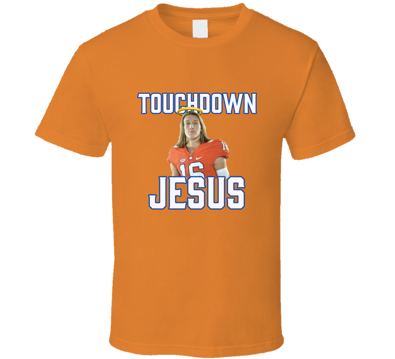 Trevor Lawrence Clemson Football Touchdown Jesus T Shirt