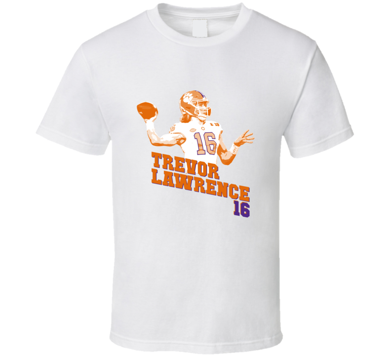 Trevor Lawrence Clemson Football Championship T Shirt