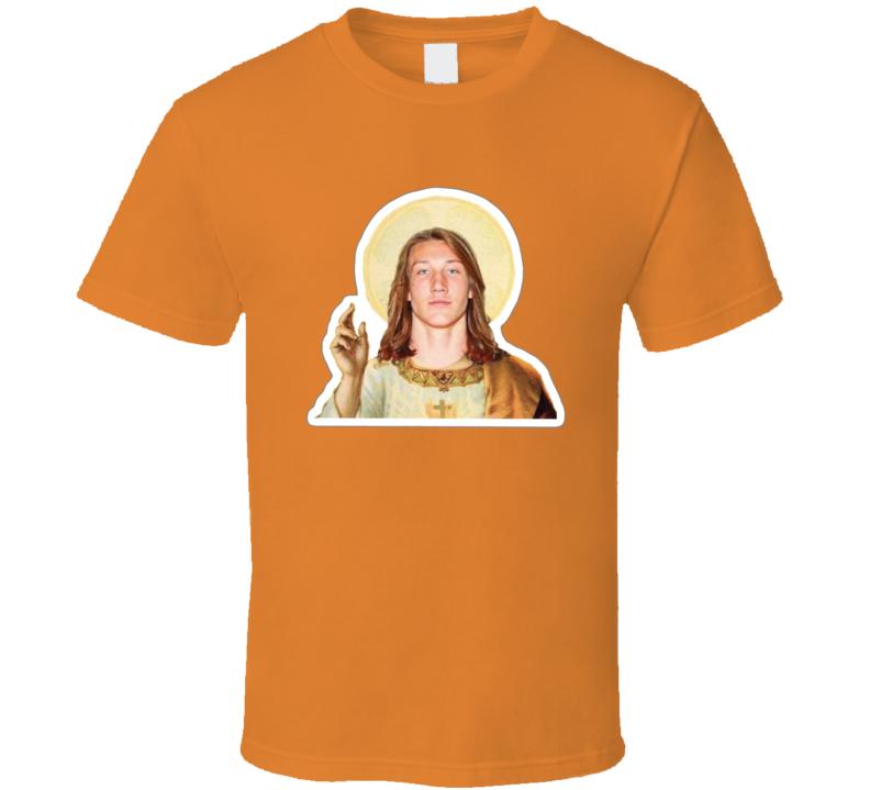 Trevor Lawrence Clemson Bust Football Touchdown Jesus T Shirt