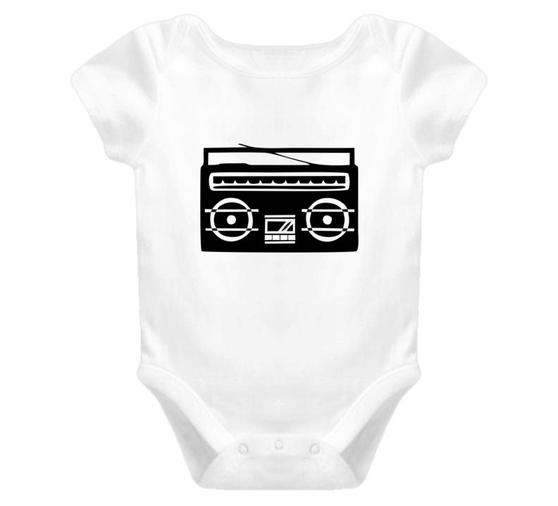 Boombox Radio Old School Baby Onesie Bodysuit Kids Shirt