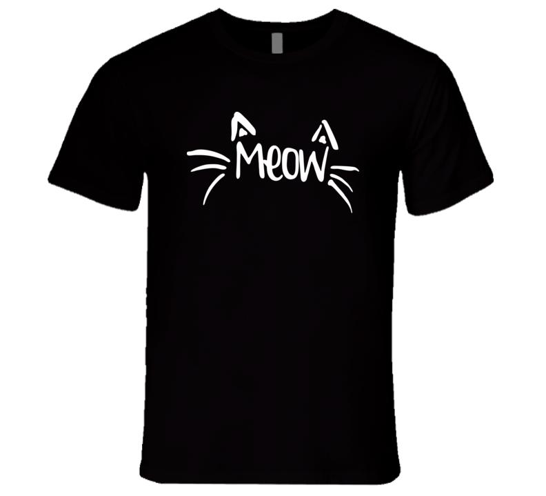 Cat meow T Shirt