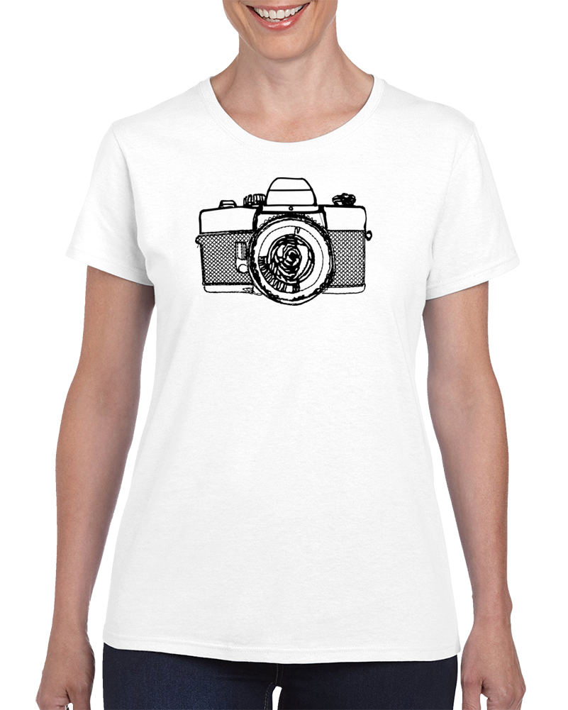 Camera-Embroidered T Shirt