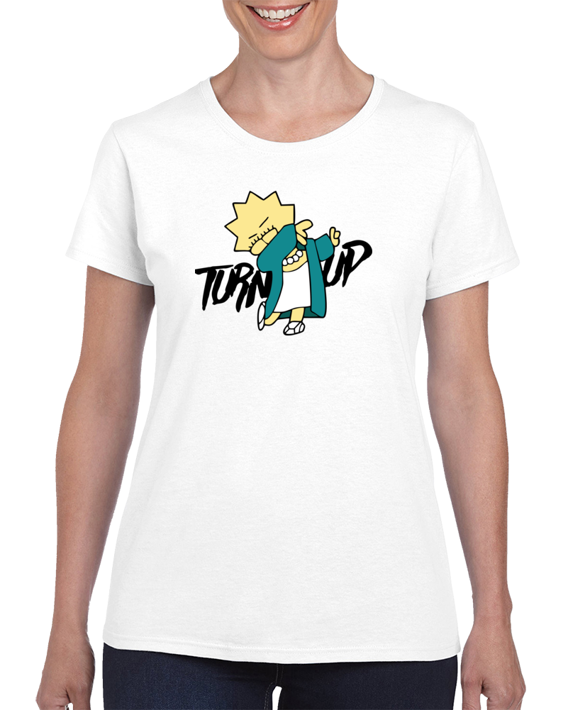 Tun Up Lisa Simpson Parody T Shirt