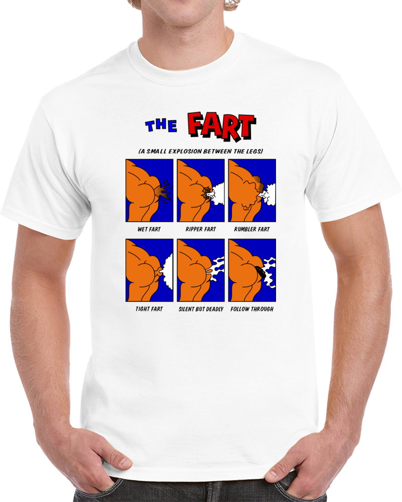 Vintage The Fart Funny Cartoons T Shirt