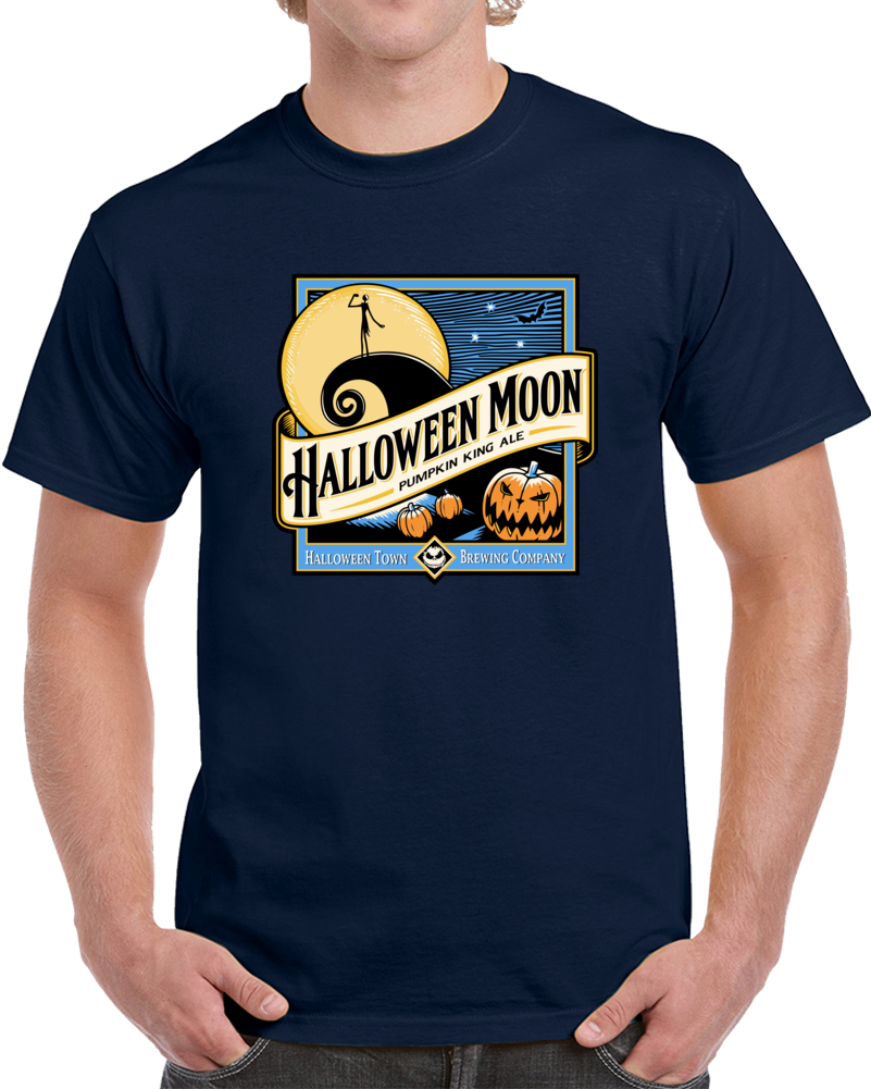 Halloween Moon Pumplin King Ale T Shirt