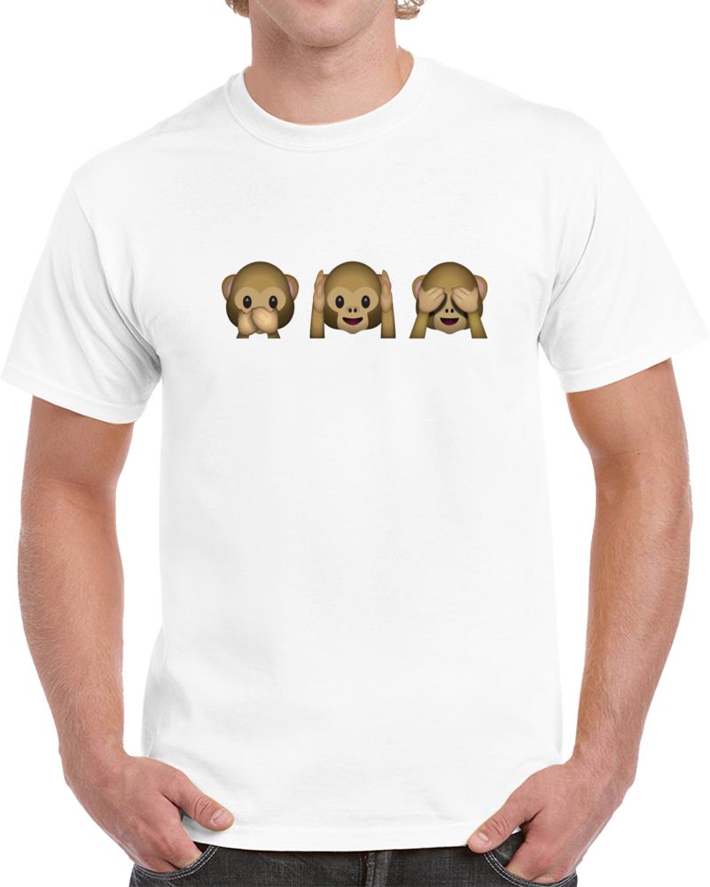 Monkey Emoji T Shirt
