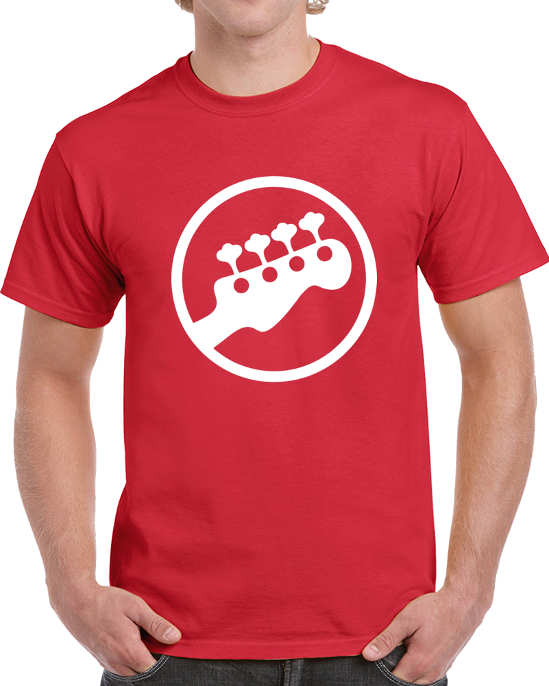 Scott Pilgrim Bass Rocband Guitar T Shirt