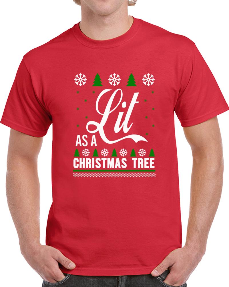 Lit Christmas T Shirt