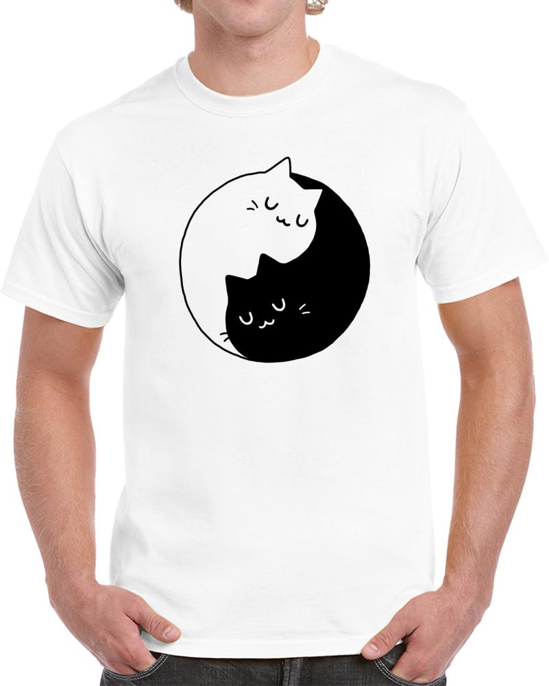Yin Yang Cats Kittens T Shirt