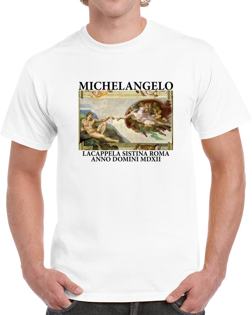 Sistine Chapel Michelangelo T Shirt