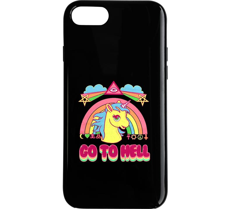 Go To Hell Unicorn Rainbow Phone Case