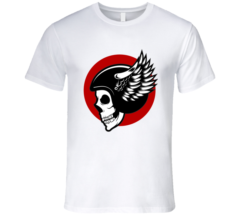 Skull Helmet Bikers  T Shirt