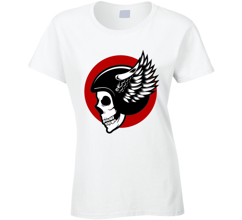 Skull Helmet Bikers  T Shirt