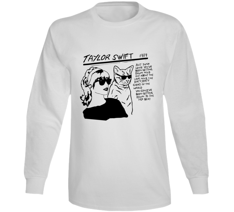 Taylor Swift Sonic Youth Style Long Sleeve