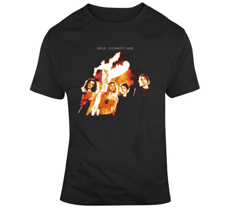 Celebrity Skin Hole Band T Shirt
